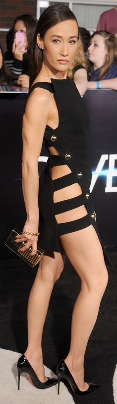 Whoa, Maggie Q! #sexydress