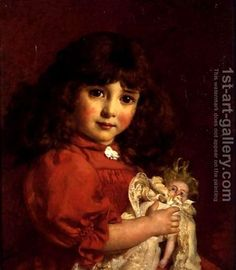 A Favourite Doll: Cyrus Johnson | Oil Painting Reproduction | 1st-Art-Gallery.com