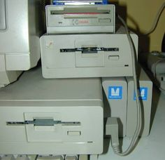 Amiga 1000 with two Microbotics StarBoard 2 modules attached