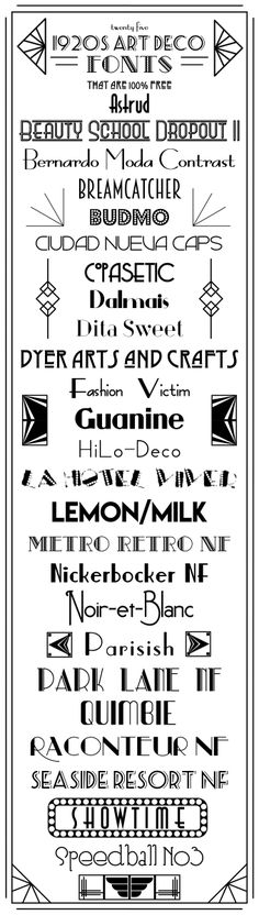 1920s and Art Deco style fonts that are 100% FREE, even for commercial use!