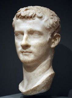 Portrait of Caligula (Gaius Julius Caesar Augustus Germanicus), Worcester Art Museum (MA, USA).  Emperor A.D. 37-41. Vermeule dates this bust to ca. A.D. 40. The portrait was discovered in the vicinity of Marino at Lake Albano along with another marble bust of Caligula (see this set) now in the Metropolitan Museum of Art. See C.C. Vermeule, Greek and Roman Sculpture in America (1981) pg. 291, cat. #248.