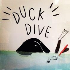 duck dive. 2013 Sho Watanabe.