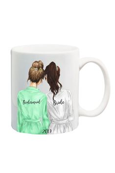 Wedding Gifts For Bride And Groom Maid of Honor Mug - This mug makes a sweet keepsake gift for your Maid of Honor! Features and Facts: Ceramic. Matching Bridesmaid Mug Style Bridesmaid Mug, Bridesmaid Gifts Unique, Bridesmaid Proposal, Bridesmaid Boxes, Bridesmaid Dresses, Burgundy Bridesmaid, Wedding Bridesmaids, Wedding Dresses, Team Bride