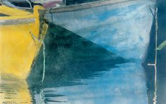 """dories 6 12"""" x 18"""" micheal zarowsky watercolour on arches paper / private collection"""