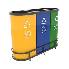 MALMO B Best seller design recycling bins set in colored metal 3x55L  Similar to the MALMO 821.A recycling bin set this model is very popular among companies or public institutions where waste sorting is part of everyday life. #interior #decoration #architecture #design #interiordesign #homeadore #designboom #stylist  #designer     http://www.urbaniere.com/shop/malmo-b-best-seller-design-recycling-bins-set-in-colored-metal-3x55l/