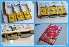 Some fiddling on the kitchen table: DIY Altered Book with Drawers