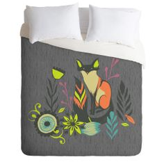 Sarah Watts Sly Fox Duvet Cover | DENY Designs Home Accessories @Erin Newton Henderson  thought you'd like this Erin