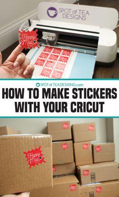 Cricut Mat, Cricut Craft Room, Cricut Cards, Cricut Vinyl, Cricut Help, How To Make Labels, Make Your Own Stickers, Making Stickers, Diy Stickers