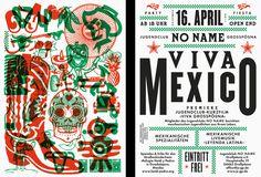 Viva Mexico Flyer by Lamm & Kirch #print #design #futura                                                                                                                                                                                 More