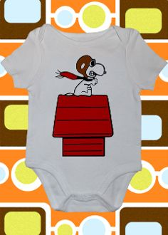 Curse You Red Baron Snoopy Peanuts Onesie or Toddler Tee
