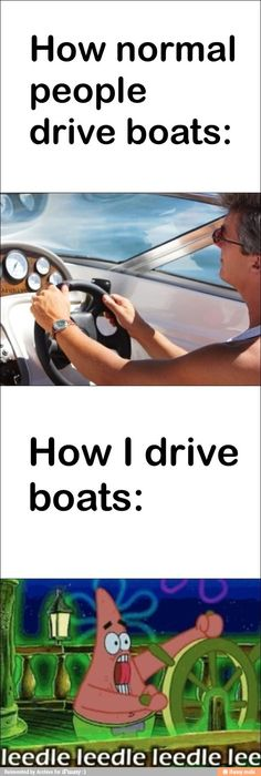 How normal people drive boats / iFunny :)