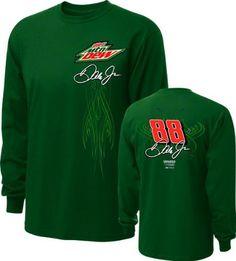 Dale Earnhardt Jr. #88 Diet Mountain Dew Fan Long Sleeve T-Shirt by Checkered Flag. $25.99. Dale Earnhardt Jr. #88 Diet Mountain Dew Fan Long Sleeve T-Shirt