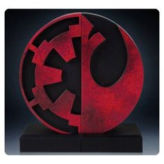 Star Wars Imperial and Rebel Bookend Logo Statue