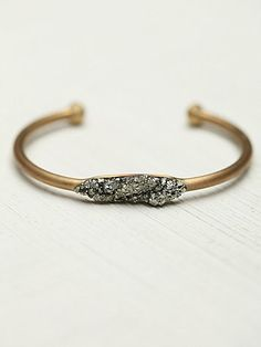 Marly Moretti //  Free People Pyrite and Stones Cuff - My Favorite!