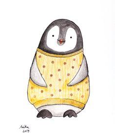 Nursery Decor Penguin Illustration Print Black & White by mikaart https://www.etsy.com/listing/248548439/nursery-decor-penguin-illustration-print?ref=shop_home_active_1