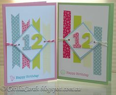Birthday cards with washi tape...