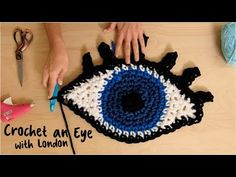 Crochet an Eye with London Kaye! Get this theme pack: . Learn how to crochet outside the lines with London Kaye! In this video, London explains how she makes her iconic eye with the London Eye Theme Pack. More from Lion Brand® Stay updated: . Slip Stitch Crochet, Crochet Stitches, Knit Crochet, Crochet Pony, Crochet Hooks, Free Crochet, London Eye, Craft It Yourself, Eye Trends
