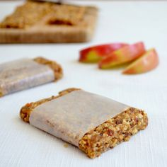 Homemade Apple Pie Larabars.  Similar to AdvoCare Raw Bar.  I left out salt and used almonds instead of walnuts.  Delicious!!
