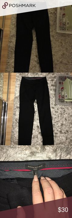 Stretchy slacks Black size 12 stretchy nice slack pants in brand new condition! Preowned by my sister who only wore them once. From Banana Republic Banana Republic Pants
