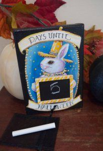 Halloween countdown rabbit witch chalkboard advent calendar original painting by lebeauchaton on Etsy Etsy Christmas, Christmas In July, Halloween Countdown, Happy Halloween, Original Paintings, Original Art, Top Blogs, Handicraft, Halloween Decorations