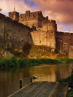 Cahir Castle- my favorite is the canon ball still stuck in the side. another great one with the city built up around it