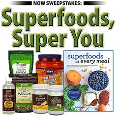 Entry & Official Rules>> www.nowfoods.com/superfoodssuperyou  It's a new year and for many, that means resolutions and a renewed focus on eating and living healthier. Let Kelly Pfeiffer of NoshandNourish.com help make meal planning simpler with her new book Superfoods at Every Meal. One lucky winner will receive a copy of Kelly's book, along with a treasure trove of NOW® superfoods to get your new year started on the right foot (a $109.20 value).