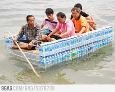 Creative Water Bottle Raft (in Thailand)