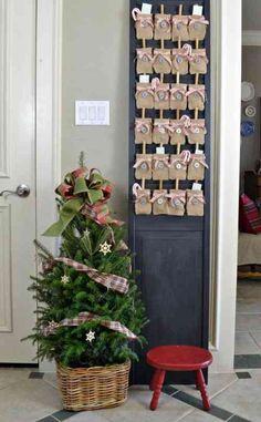 idees originales de calendrier de l'Avent de Noël : bricolage en tissu