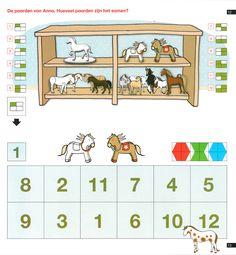loco, Hoeveel paarden zijn het samen Mini, Logic Puzzles, Diy Games, Preschool Worksheets, Pre School, Homeschool, Education, Creative, Activities