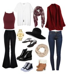 """""""Thanksgiving/Fall"""" by chlobug77 on Polyvore featuring River Island, Miss Selfridge, Cocobelle, Frame Denim, maurices, Eugenia Kim, Sole Society, Movado, Natalie B and UGG Australia"""