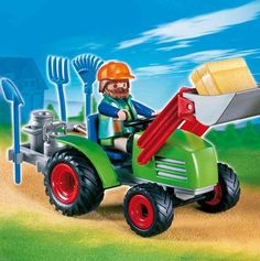 Playmobil 4143 Farmer's Tractor by Playmobil. $22.95. 7.9 x 7.9 x 3 inches. Limited Edition. Front loader tiltable and moveable. Ages 4 and up. With functional front loader.