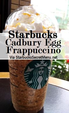Happy Easter Weekend! Enjoy it with a Starbucks Cadbury Egg Frappuccino! Recipe: http://starbuckssecretmenu.net/starbucks-secret-menu-cadbury-egg-frappuccino/