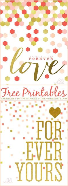 Free Valentine's Day Printable by the36thavenue.com Pin it now and print it later!