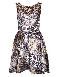 Leopard print mini-dress
