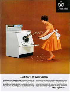 """Pays Off Every Washday""  Westinghouse 1963"