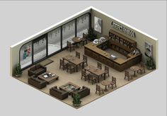 isometric hotel interior - Google Search
