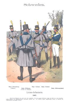 Vol 06 - Pl 34 - Schweden. Linien-Infanterie. 1807.