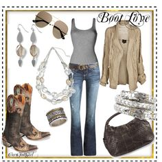 Boot Love, created by cornfedgirl.polyvore.com