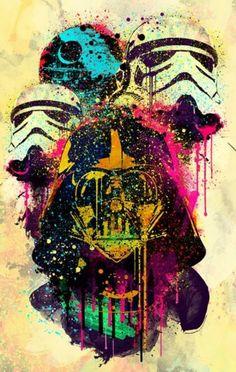 Colorful Star Wars art