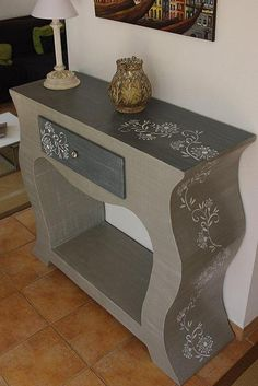 Cardboard console table