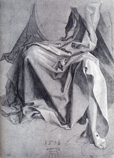 Study Of Drapery (1508) - Albrecht Durer