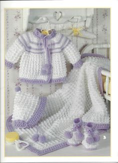Lullaby Layettes Leisure Arts 2614 by KnitKnacksCreations