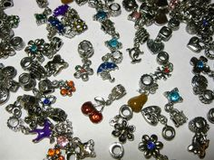 '25 Mixed Alloy Rhinestone European Dangle Beads' is going up for auction at 11pm Sat, Feb 16 with a starting bid of $12.