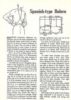 1950s  Bolero Jacket (Img From Sewing Magic, 1952)