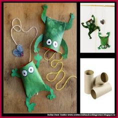 Dollar Store Crafter: Toilet Paper Roll Frogs