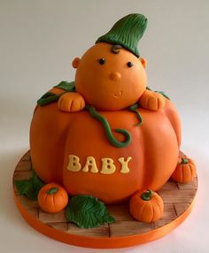 Pumpkin patch baby shower cake - Cake by Nikki's Cakes