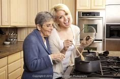 Stockafe stock photography: young woman cooking with her grandmother by Donna Coleman #stockafe #stockphotography