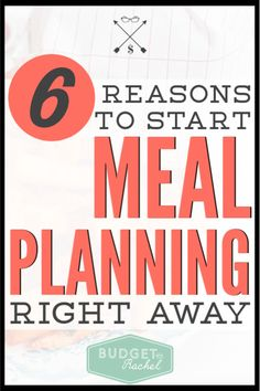 Meal planning for beginners can seem overwhelming. Here are 6 reasons you should make a plan for your weekly dinners so you can save time and money today! Saving Money Quotes, Money Saving Challenge, Money Saving Tips, Money Tips, Budgeting Finances, Budgeting Tips, Finance Books, Finance Tips, Weekly Dinners