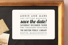 The Square Type Save the Date Magnets by Design Lotus at minted.com