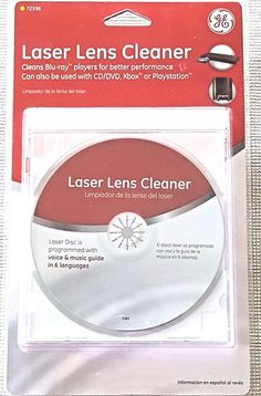 Laser Lens Cleaner for CD/DVD Blu-ray XBox Playstation Players GE 72598 New  #GE